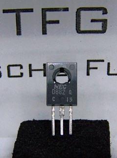 Transistor,2SD882,NEC, Neuwertig,1xzu Testzwecke eingebaut, 10357_6_34,3209795, €1,13