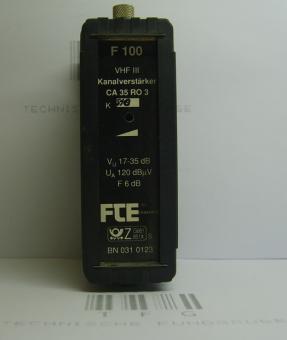 Kanalverstärker,F100,VHFIII, FTE,CA35RO3,Kanal,S10, 17-35dB,gebraucht
